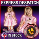 FANCY DRESS ~ DISNEY GIRLS CLASSIC PINK MINNIE MOUSE MED AGE 5-6